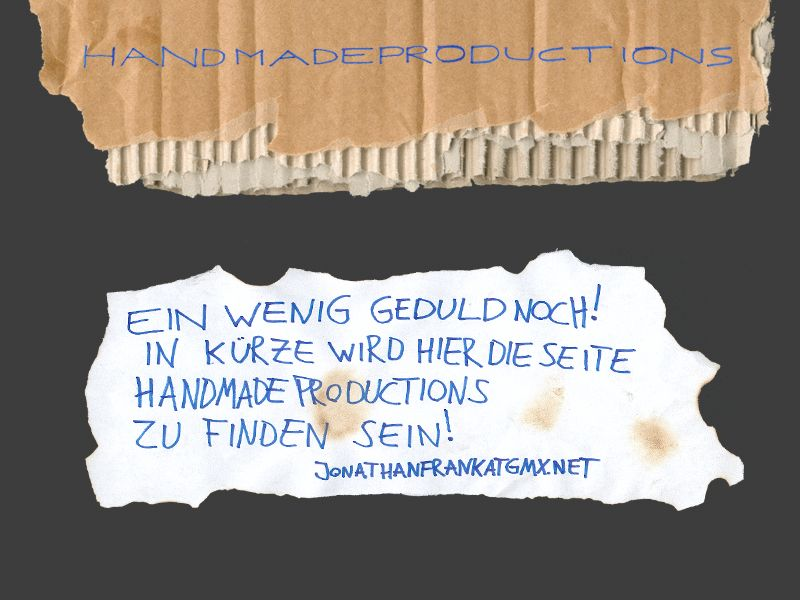 handmadeproductions.de comming soon